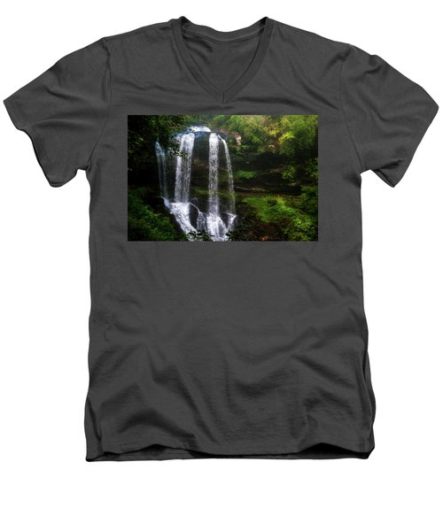 Men's V-Neck T-Shirt featuring the photograph Morning In The Mist by Allen Carroll
