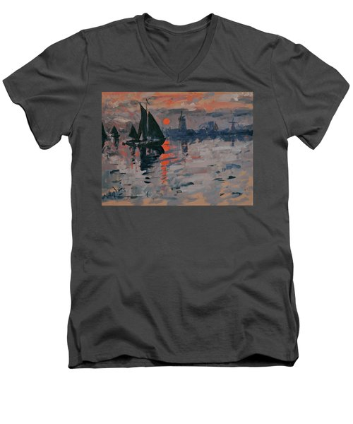 Morning In Zaanse Schans Men's V-Neck T-Shirt
