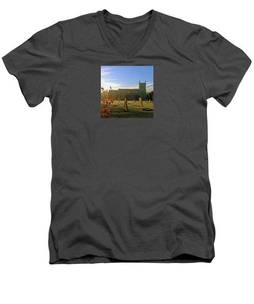 Morning Light Men's V-Neck T-Shirt by Anne Kotan