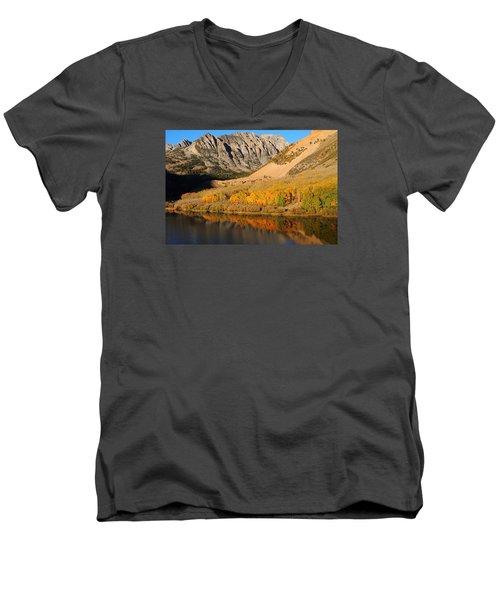 Morning Light At North Lake In The Eastern Sierras Men's V-Neck T-Shirt