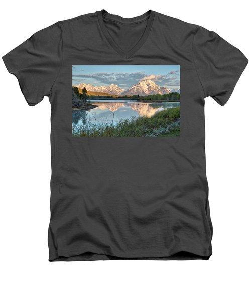Morning Light At Oxbow Bend Men's V-Neck T-Shirt