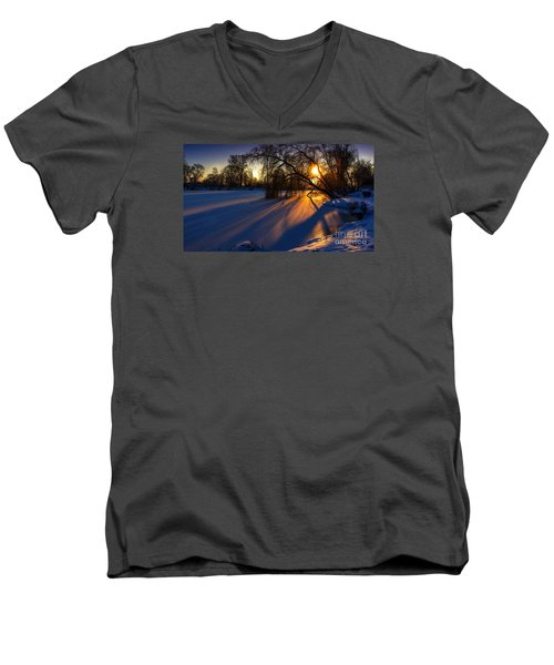 Men's V-Neck T-Shirt featuring the photograph Morning Light by Franziskus Pfleghart