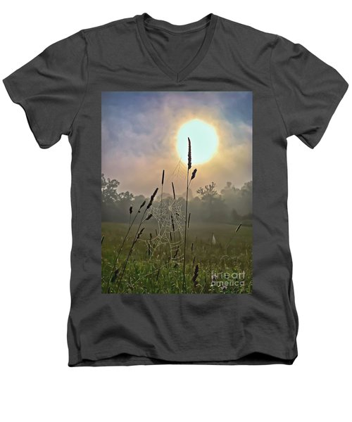Morning Light Men's V-Neck T-Shirt by Kerri Farley