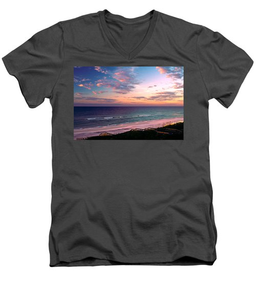 Morning Light On Rosemary Beach Men's V-Neck T-Shirt by Marie Hicks