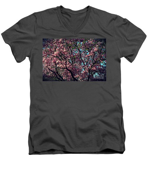 Morning Lit Magnolia Men's V-Neck T-Shirt