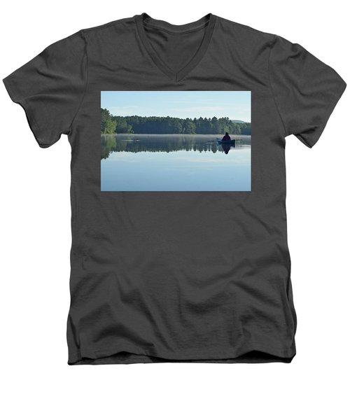 Morning Meeting Men's V-Neck T-Shirt by Joy Nichols