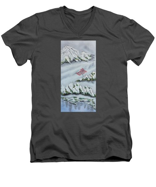 Morning Mist 3 Men's V-Neck T-Shirt