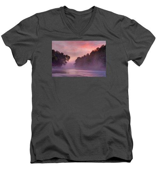 Morning Mist Men's V-Neck T-Shirt by Robert Charity