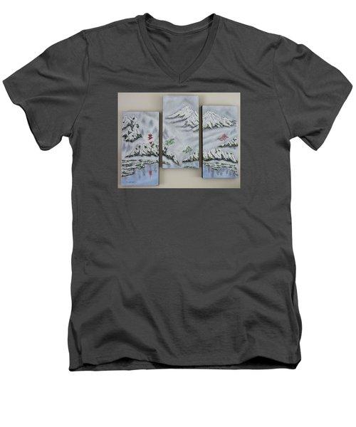 Morning Mist Triptych Men's V-Neck T-Shirt
