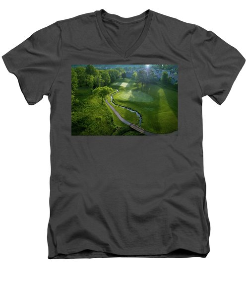 Morning On The 9th Men's V-Neck T-Shirt