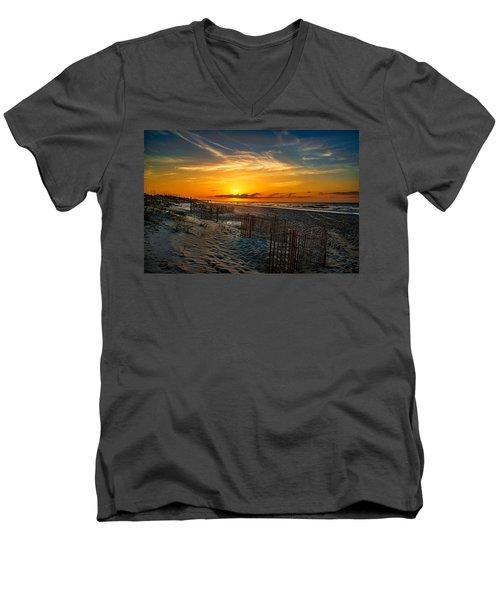 Morning On The Bogue Banks Men's V-Neck T-Shirt