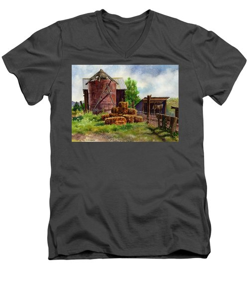 Morning On The Farm Men's V-Neck T-Shirt by Anne Gifford