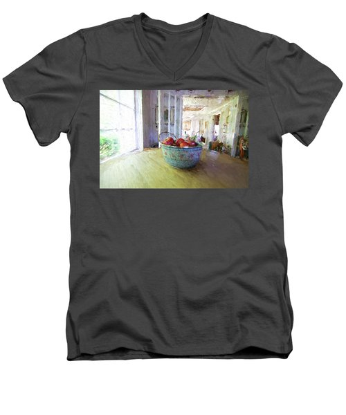 Morning On The Farm Men's V-Neck T-Shirt