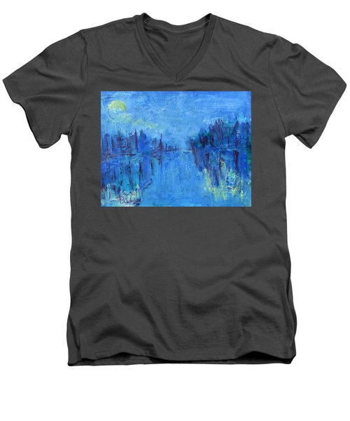 Morning On The Point Men's V-Neck T-Shirt by Betty Pieper
