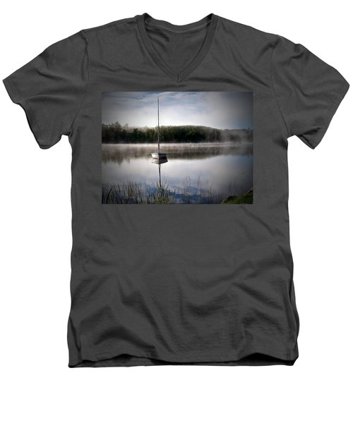 Morning On White Sand Lake Men's V-Neck T-Shirt by Lauren Radke