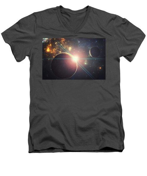 Morning Over The Planet X Men's V-Neck T-Shirt
