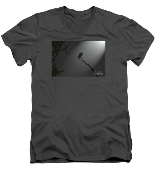 Men's V-Neck T-Shirt featuring the photograph Morning Prayer by Geraldine DeBoer
