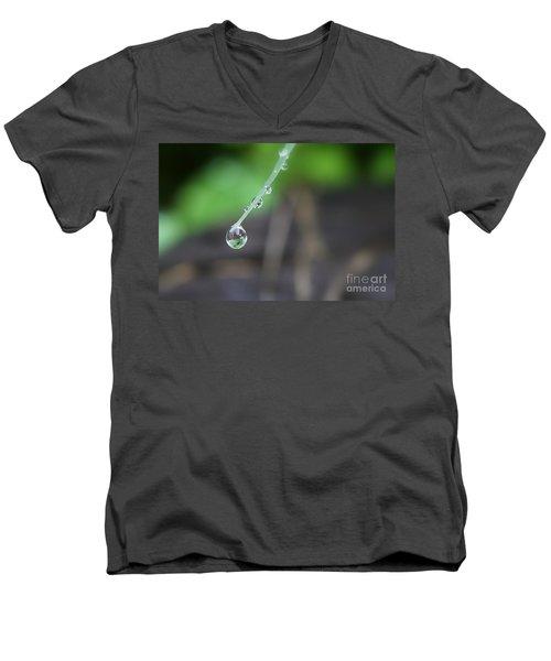 Morning Rain Drops Men's V-Neck T-Shirt by Kym Clarke