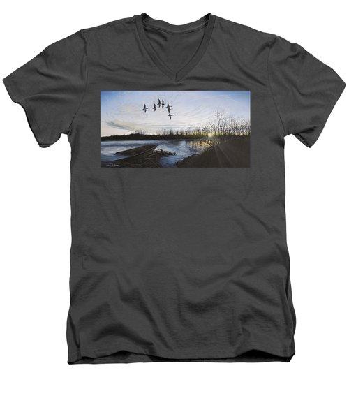 Morning Retreat - Pintails Men's V-Neck T-Shirt
