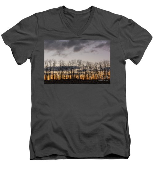 Morning Sky Men's V-Neck T-Shirt by Nicki McManus