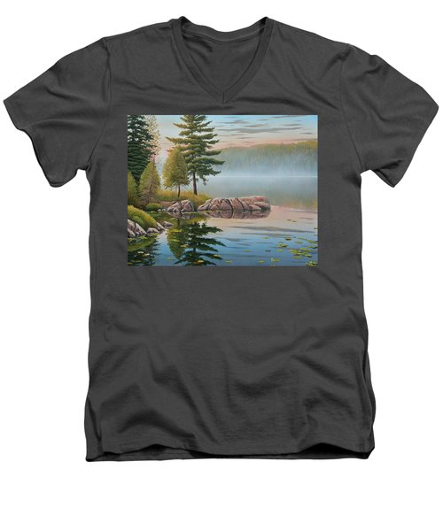 Morning Stillness Men's V-Neck T-Shirt