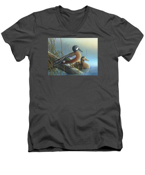 Morning Sun Men's V-Neck T-Shirt by Mike Brown