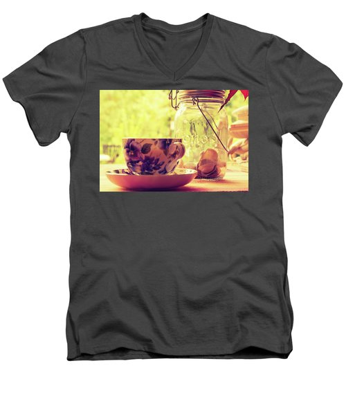 Morning Tea Men's V-Neck T-Shirt
