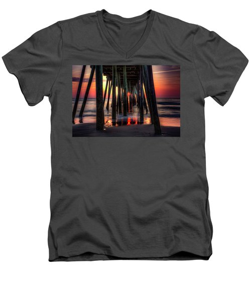 Morning Under The Pier Men's V-Neck T-Shirt