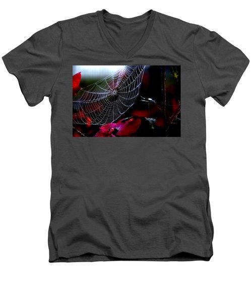 Morning Web Men's V-Neck T-Shirt
