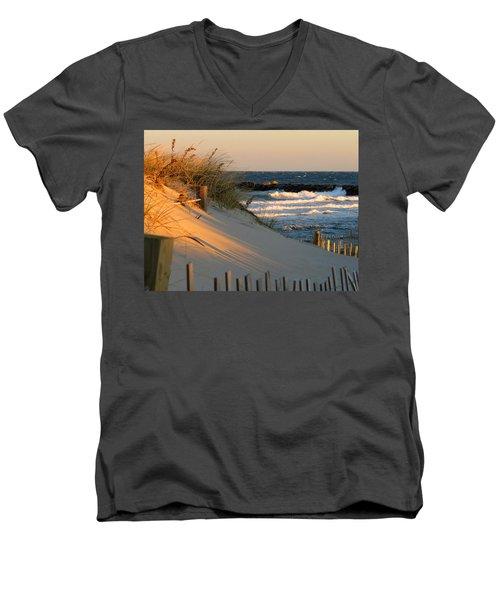 Morning's Light Men's V-Neck T-Shirt by Dianne Cowen