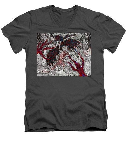 Morpheus Men's V-Neck T-Shirt by Robert Nickologianis