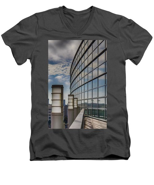 Men's V-Neck T-Shirt featuring the photograph Moscone West Balcony by Darcy Michaelchuk