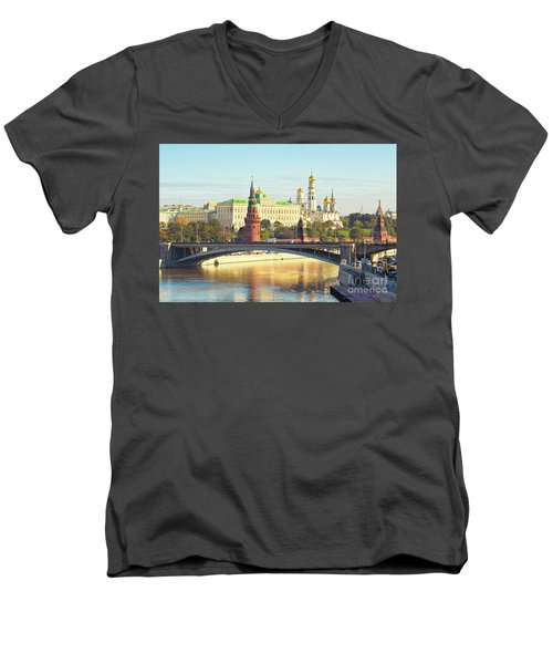 Moscow, Kremlin Men's V-Neck T-Shirt by Irina Afonskaya