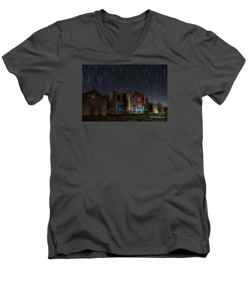 Mosheim Texas Schoolhouse Men's V-Neck T-Shirt