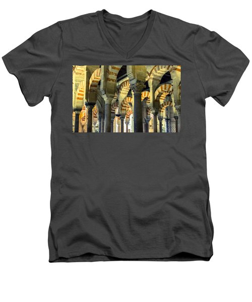 Mosque Cathedral Of Cordoba 2 Men's V-Neck T-Shirt