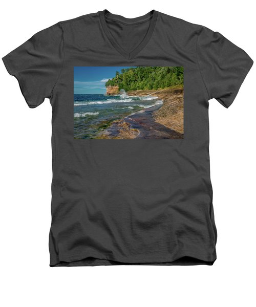 Mosquito Harbor Waves  Men's V-Neck T-Shirt