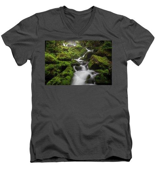 Mossy Fall #3 Men's V-Neck T-Shirt