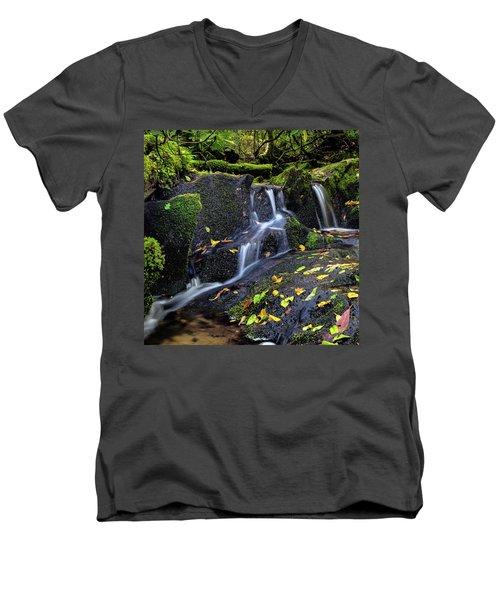Emerald Cascades Men's V-Neck T-Shirt
