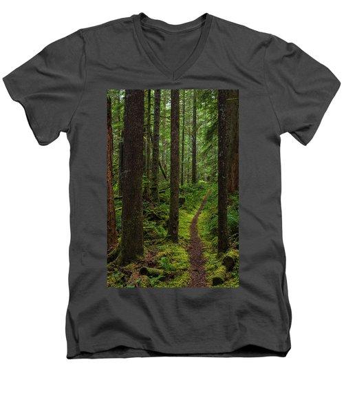 North Souixon Creek Mossy Trail Men's V-Neck T-Shirt