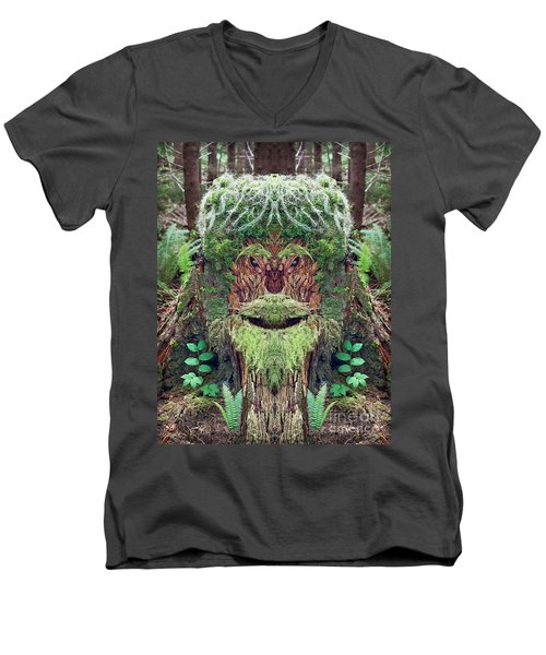 Mossman Tree Stump Men's V-Neck T-Shirt