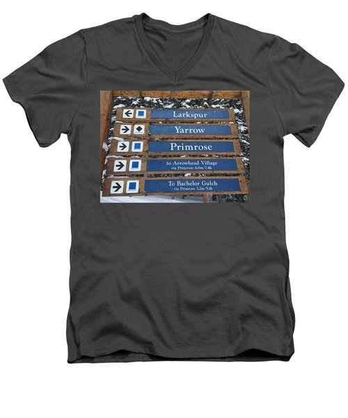 Most Go Right Men's V-Neck T-Shirt by Christin Brodie