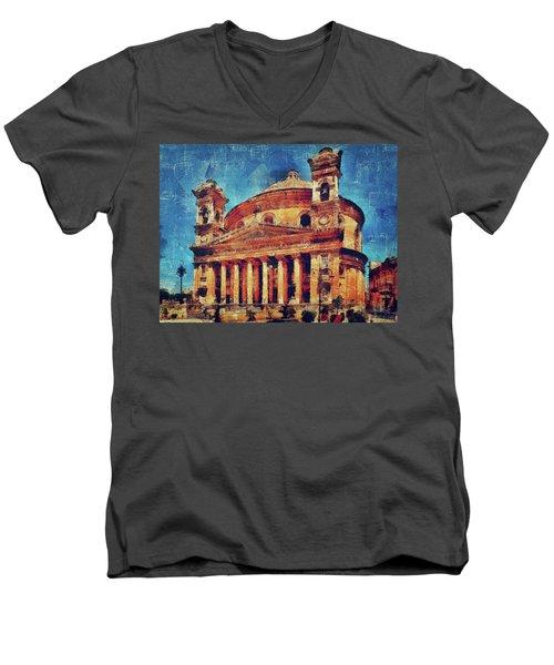 Mosta Church Men's V-Neck T-Shirt