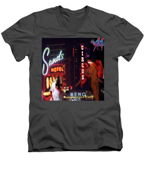 Motel Variations Angels Men's V-Neck T-Shirt by Ann Tracy
