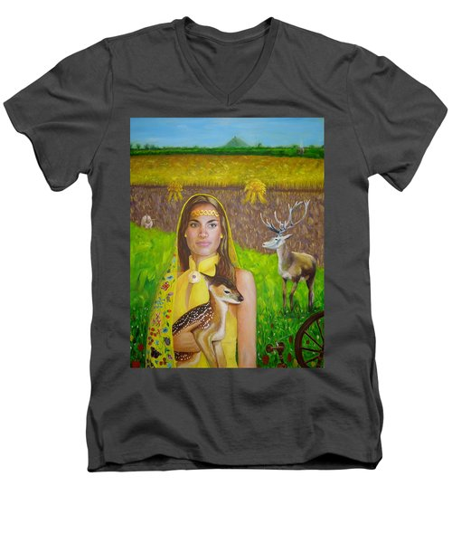 Mother Goddess Ker - Lammas Men's V-Neck T-Shirt