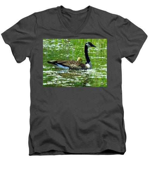 Mother Goose Men's V-Neck T-Shirt