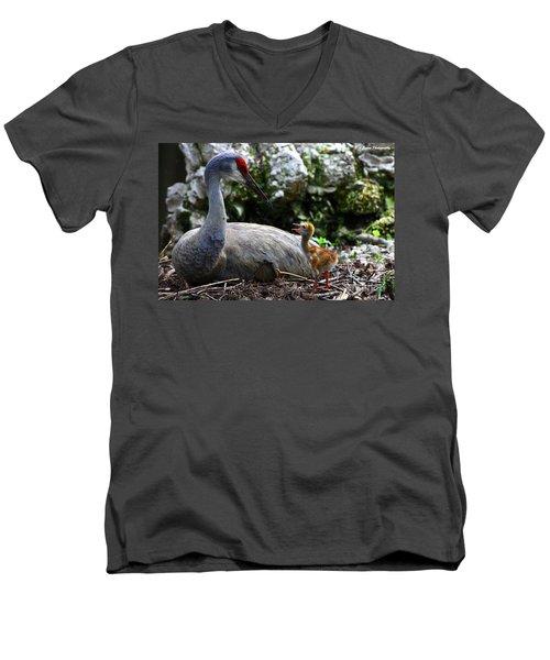 Mother Listening Men's V-Neck T-Shirt