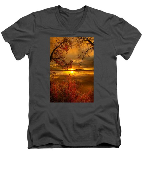 Mother Nature's Son Men's V-Neck T-Shirt by Phil Koch