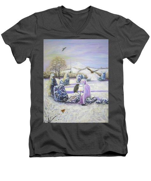 Mother Of Air Goddess Danu - Winter Solstice Men's V-Neck T-Shirt