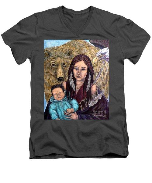 Motherhood-guardian Spirits Men's V-Neck T-Shirt
