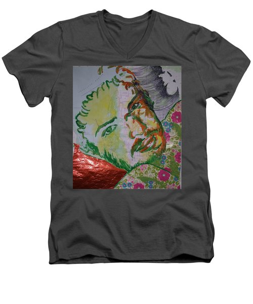 Mothering Max Men's V-Neck T-Shirt by Tilly Strauss